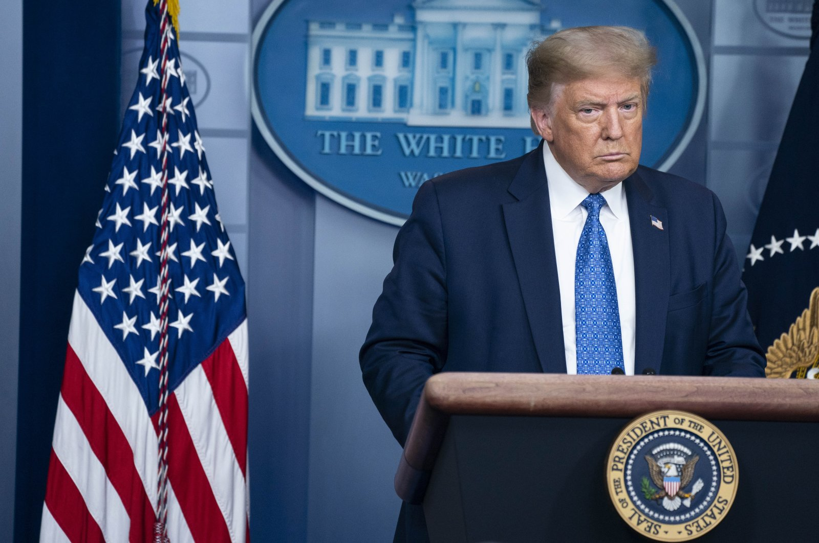 U.S. President Donald Trump speaks during a news conference at the White House, Washington, D.C., U.S., July 22, 2020. (EPA Photo)