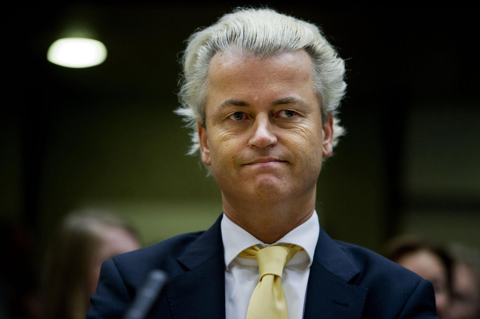 Dutch right-wing politician Geert Wilders of the Freedom Party listens in the courtroom in Amsterdam, June 23, 2011. (Reuters Photo)