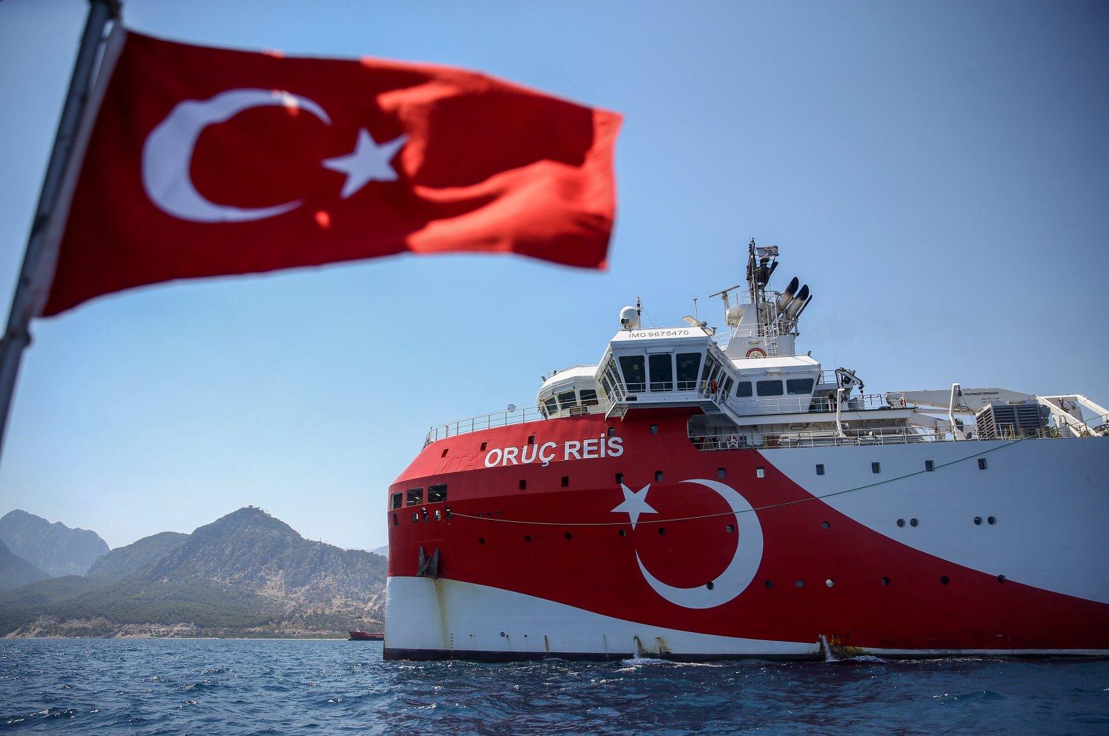 Turkish seismic exploration vessel Oruç Reis in the Eastern Mediterranean on July 23, 2020 (AA Photo)