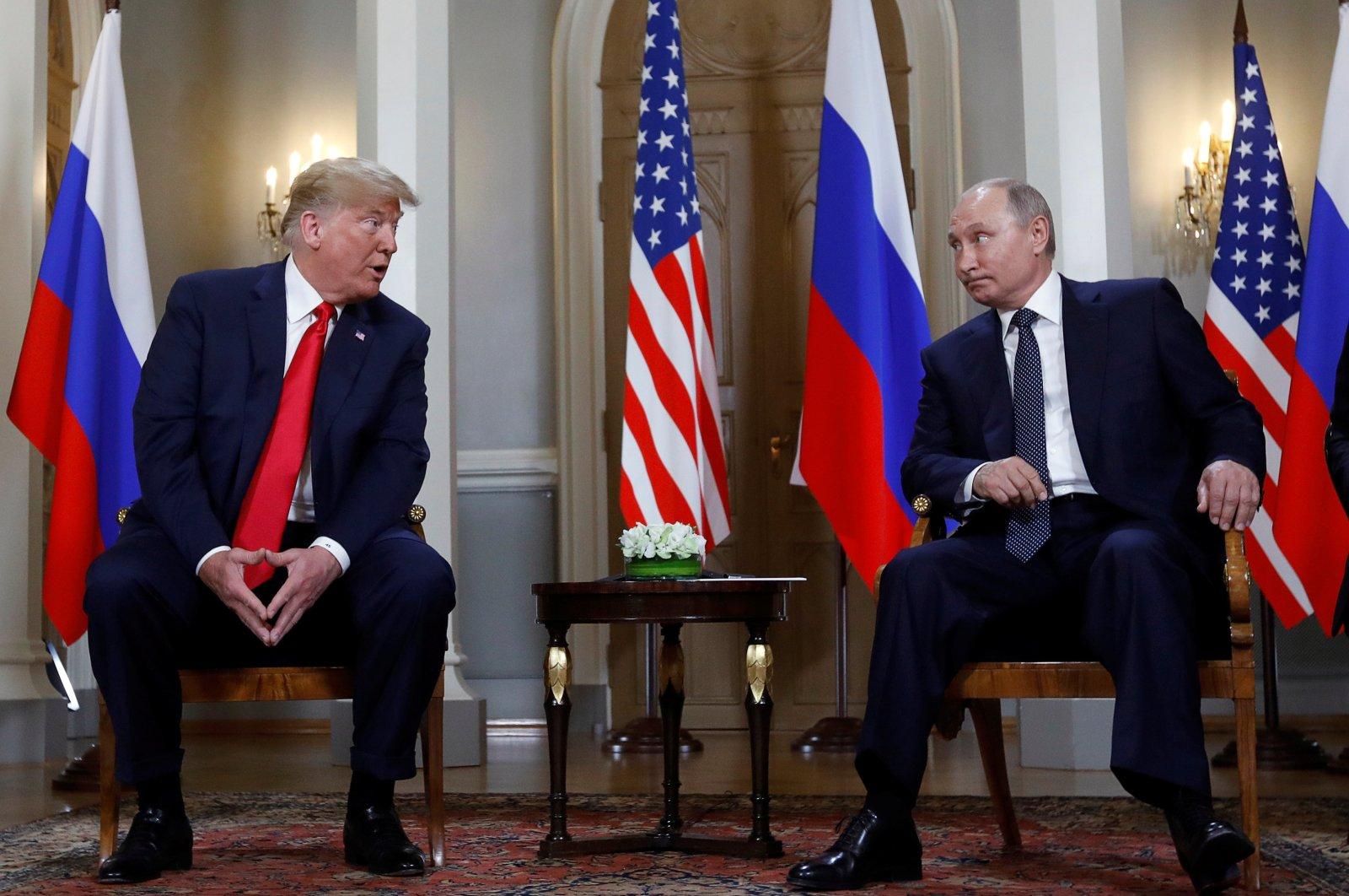 U.S. President Donald Trump meets with Russian President Vladimir Putin in Helsinki, Finland, July 16, 2018. (Reuters File Photo)