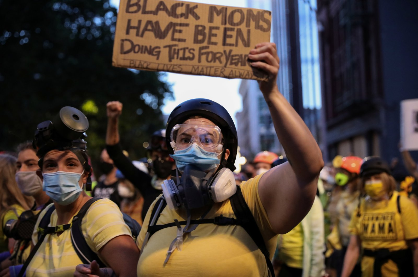 Mothers protest against racial inequality and police violence in Portland, Oregon, U.S., July 23, 2020. (Reuters Photo)