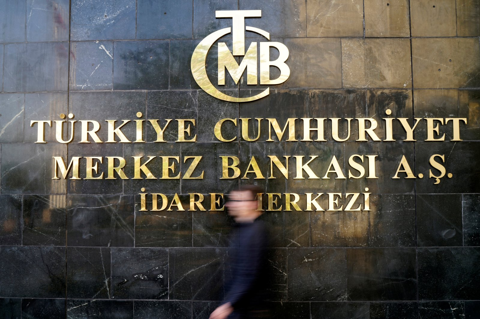 A man leaves the Central Bank of the Republic of Turkey's (CBRT) headquarters in Ankara, Turkey, April 19, 2015. (Reuters Photo)