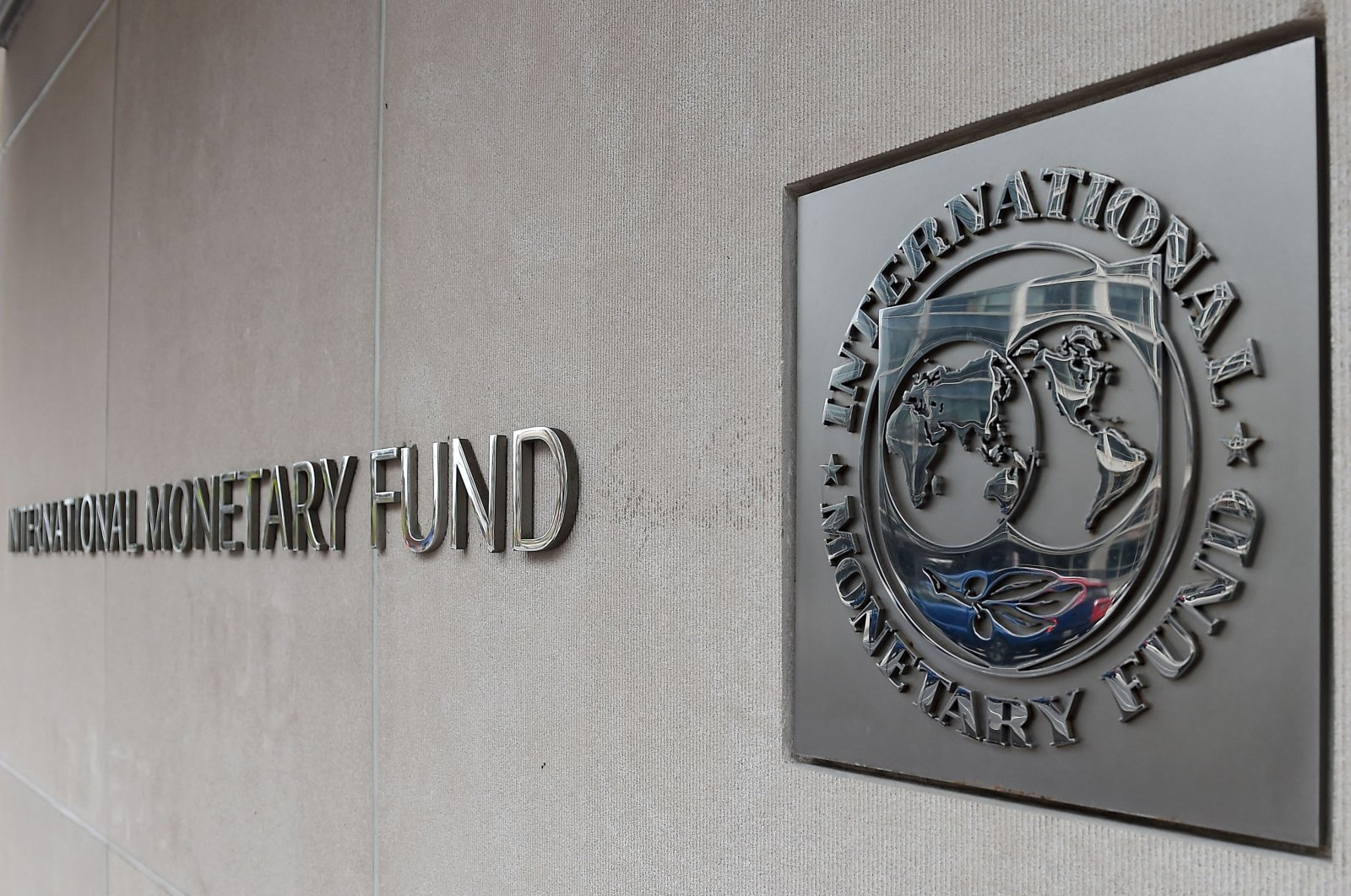 An exterior view of the building of the International Monetary Fund (IMF) in Washington, D.C., March 27, 2020. (AFP Photo)