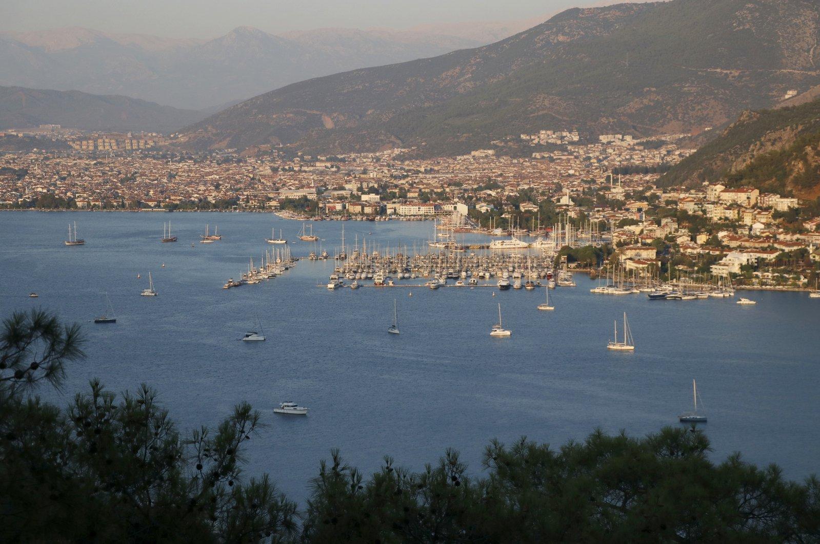 A view of southwestern Muğla province's resort town Fethiye, Turkey, July 24, 2020. (AA Photo)
