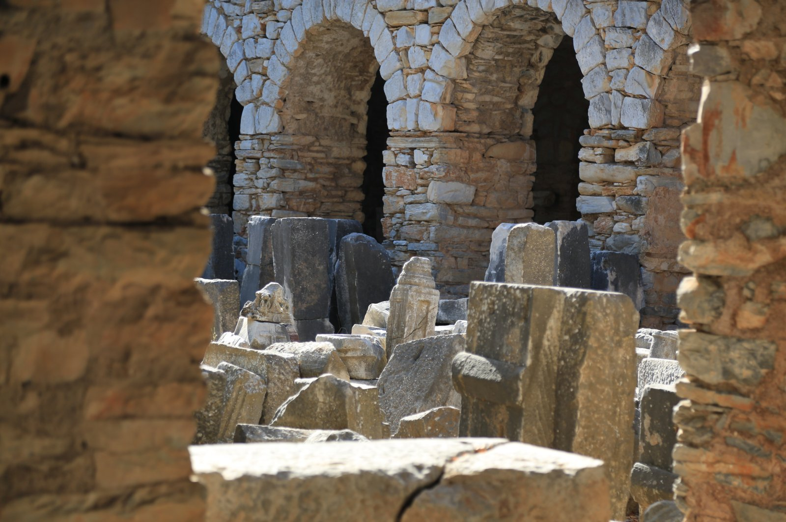 The ancient city of Iasos in the Turkish Aegean is famed for its unique marble structures. (AA Photo)