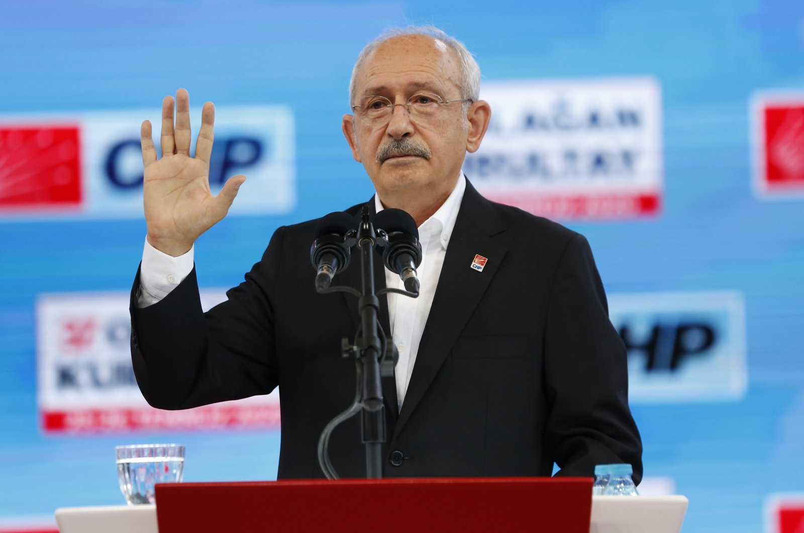 CHP Chairman Kemal Kılıçdarıoğlu at the 37th general congress, July 25, 2020. (AA Photo)