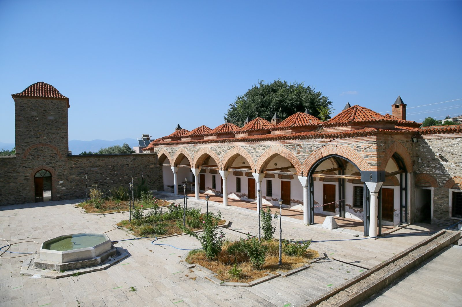 An interior view of the Yoğurtluoğlu Complex, Tire, western Izmir, Turkey, July 22, 2020. (AA PHOTO)