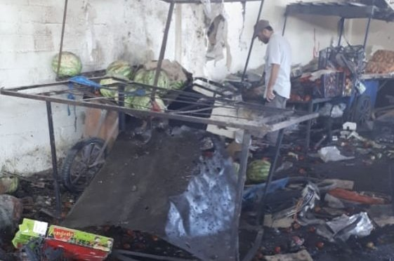 At least five civilians were killed in a bomb attack by the YPG/PKK in Ras al-Ain, northeastern Syria, July 26, 2020. (IHA Photo)