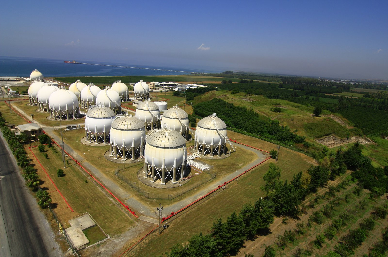 Turkey's largest capacity LPG terminal in Dörtyol district of southern Hatay province.  (Photo by  BDY Group via AA )