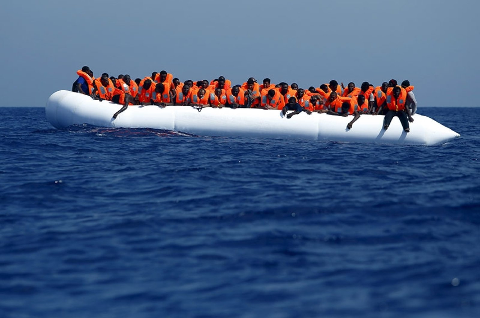 A migrant boat in the Mediterranean is seen in this Reuters file photo.