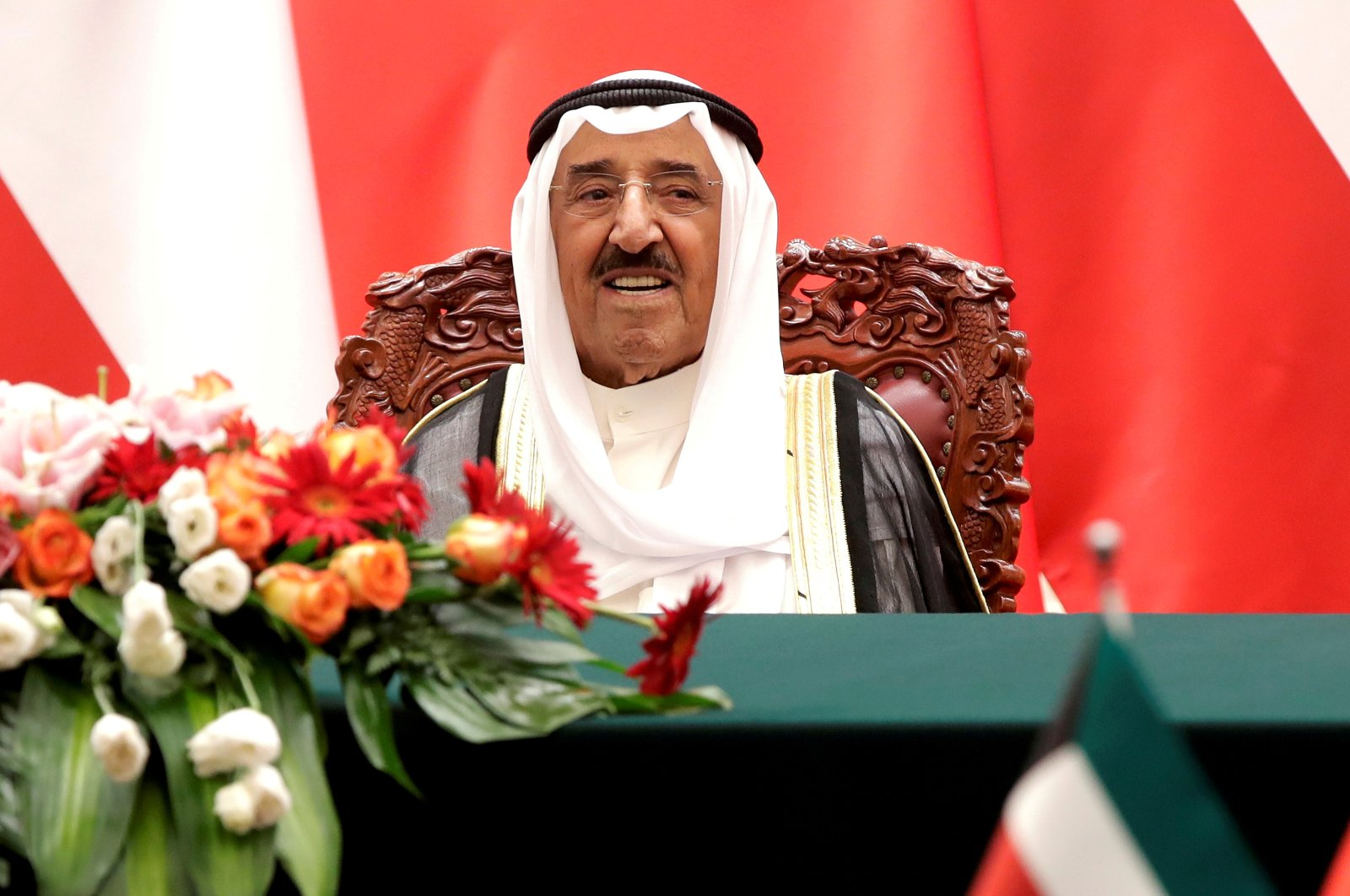 Kuwaiti Emir Sheikh Sabah al-Ahmad al-Jaber al-Sabah witnesses a signing ceremony at the Great Hall of the People in Beijing, China, July 9, 2018. (Reuters Photo)