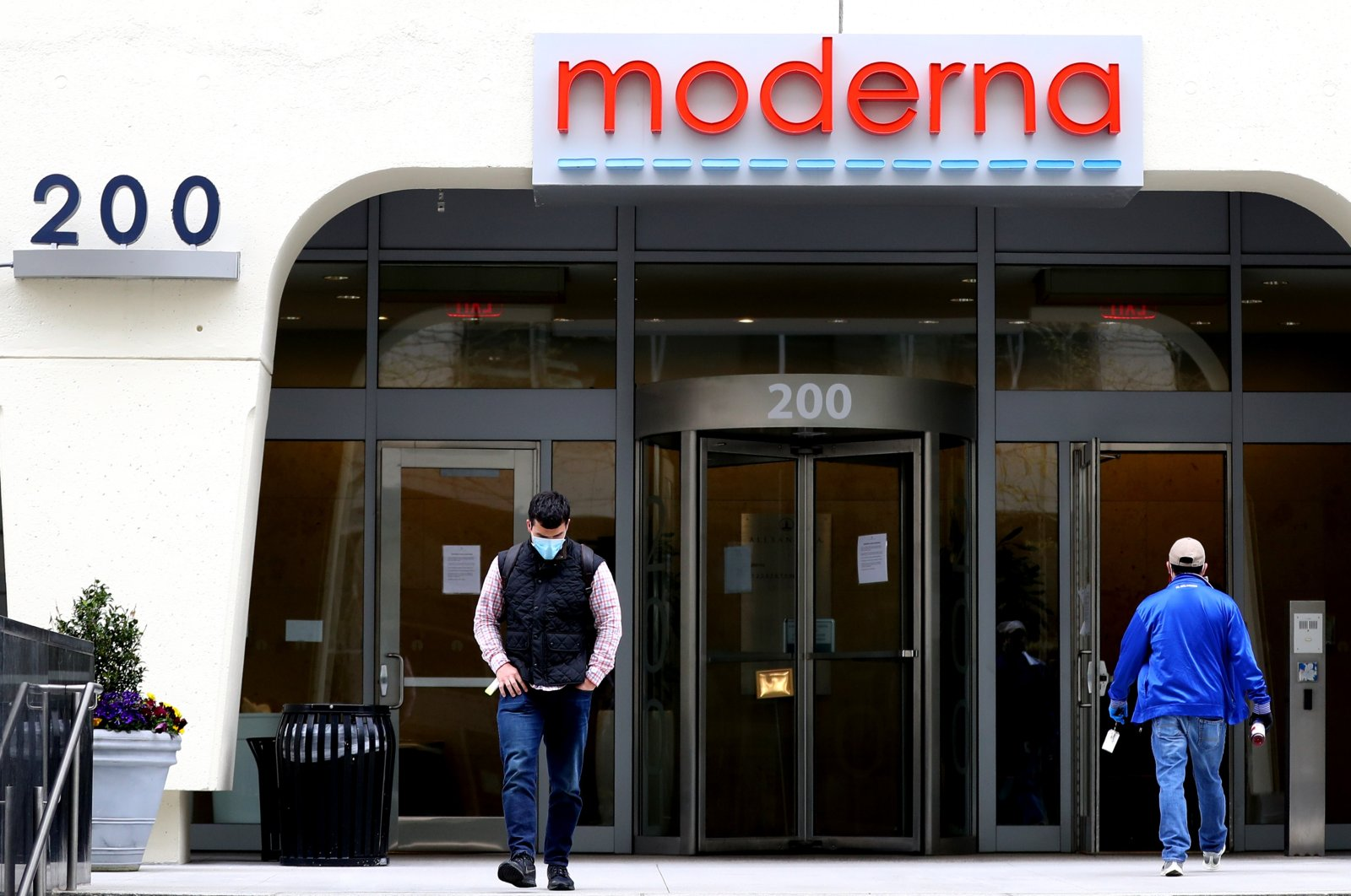 A view of Moderna headquarters in Cambridge, Massachusetts, May 8, 2020. (Getty Images / AFP Photo)