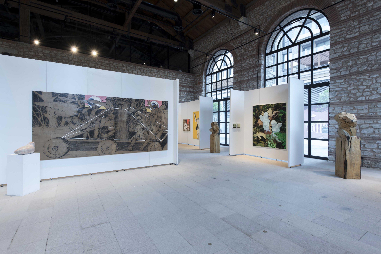 'Spinning the Cocoon,' installation views of works by Evren Sungur, Burcu Erden and Onur Mansız.  (Photo by Kayhan Kaygusuz)