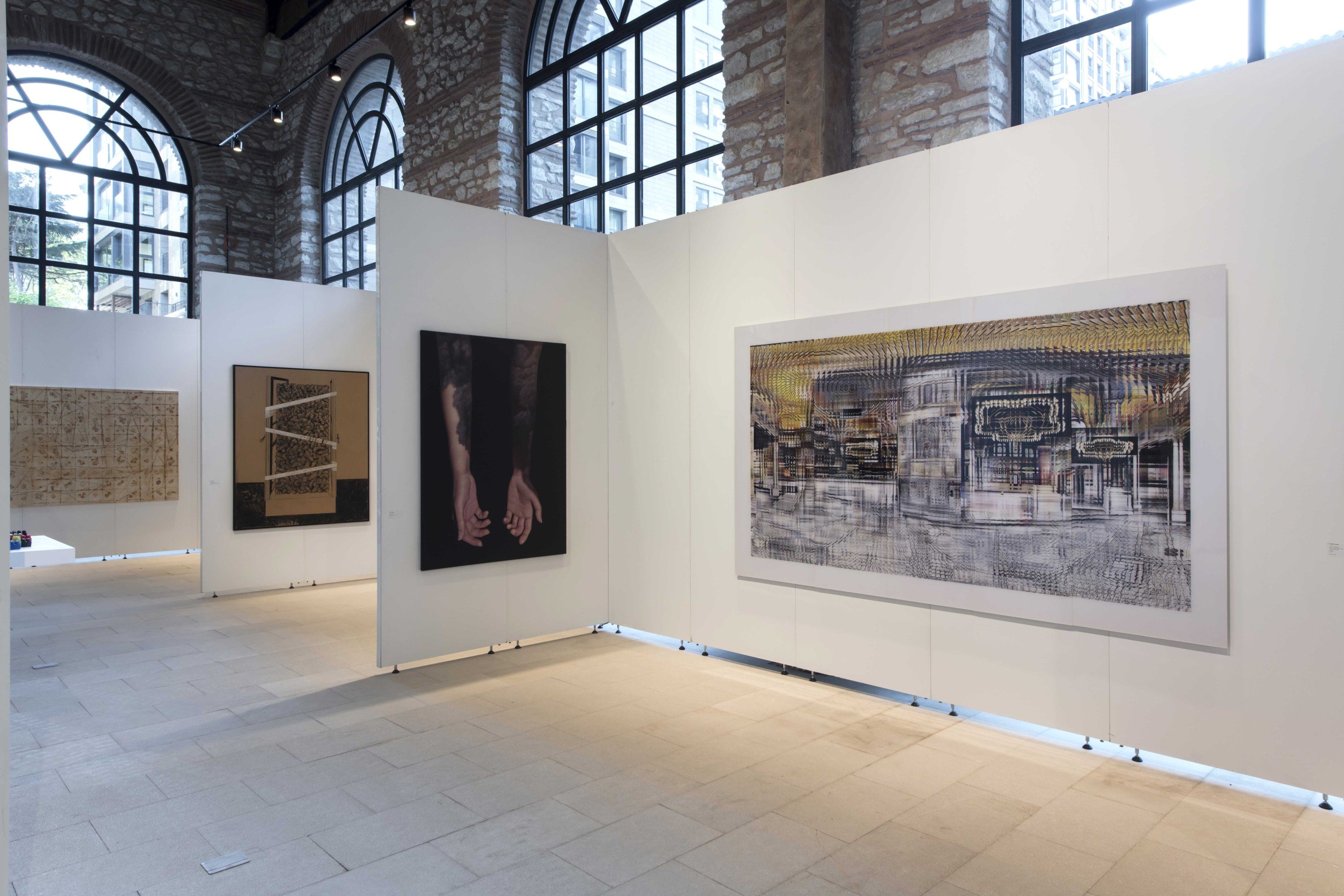 'Spinning the Cocoon,' installation view of work by Ahmet Elhan. (Photo by Kayhan Kaygusuz)