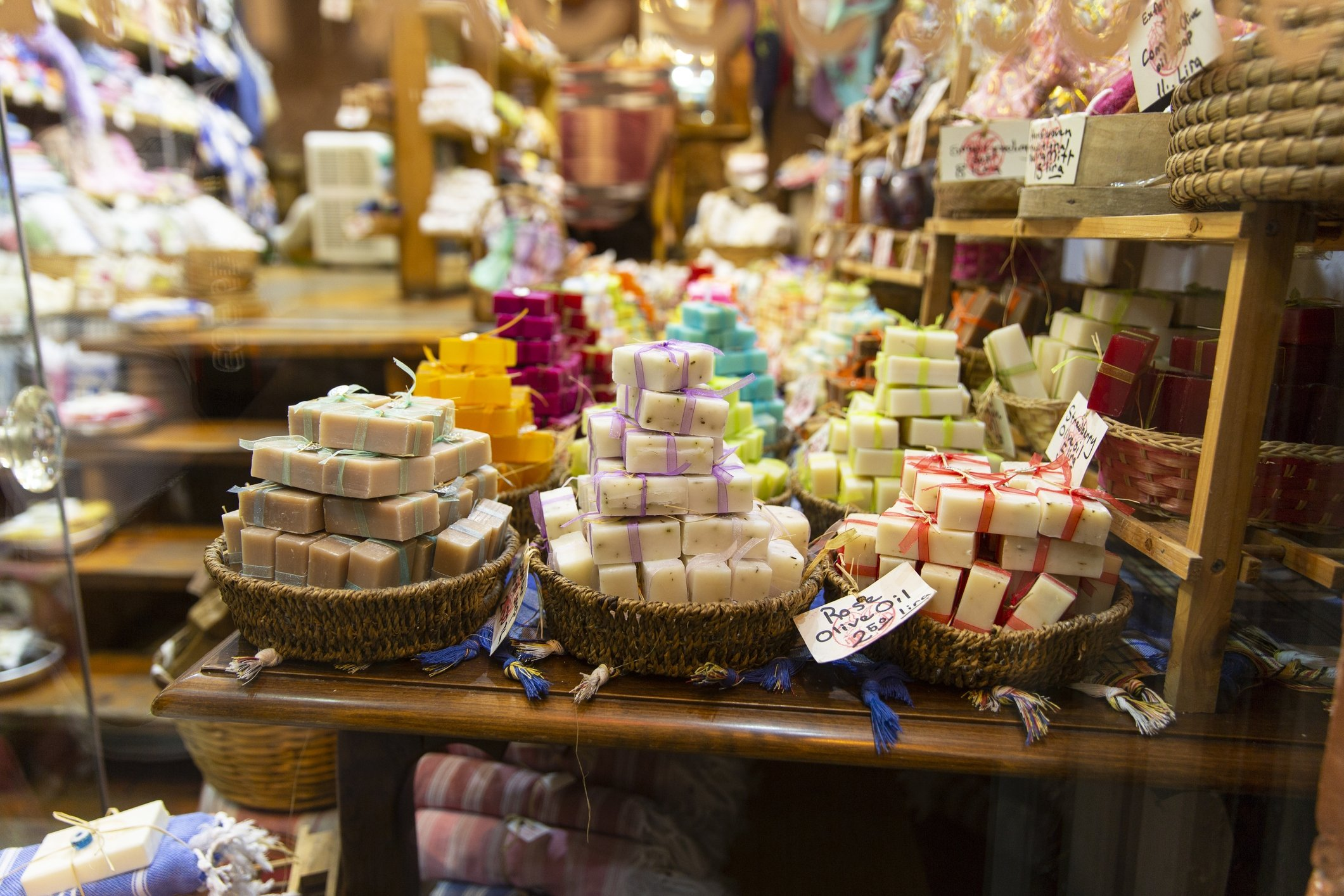 From lavender to pistachio, you can find soaps with all kinds of different smells and properties at the Grand Bazaar in Istanbul. (iStock Photo)