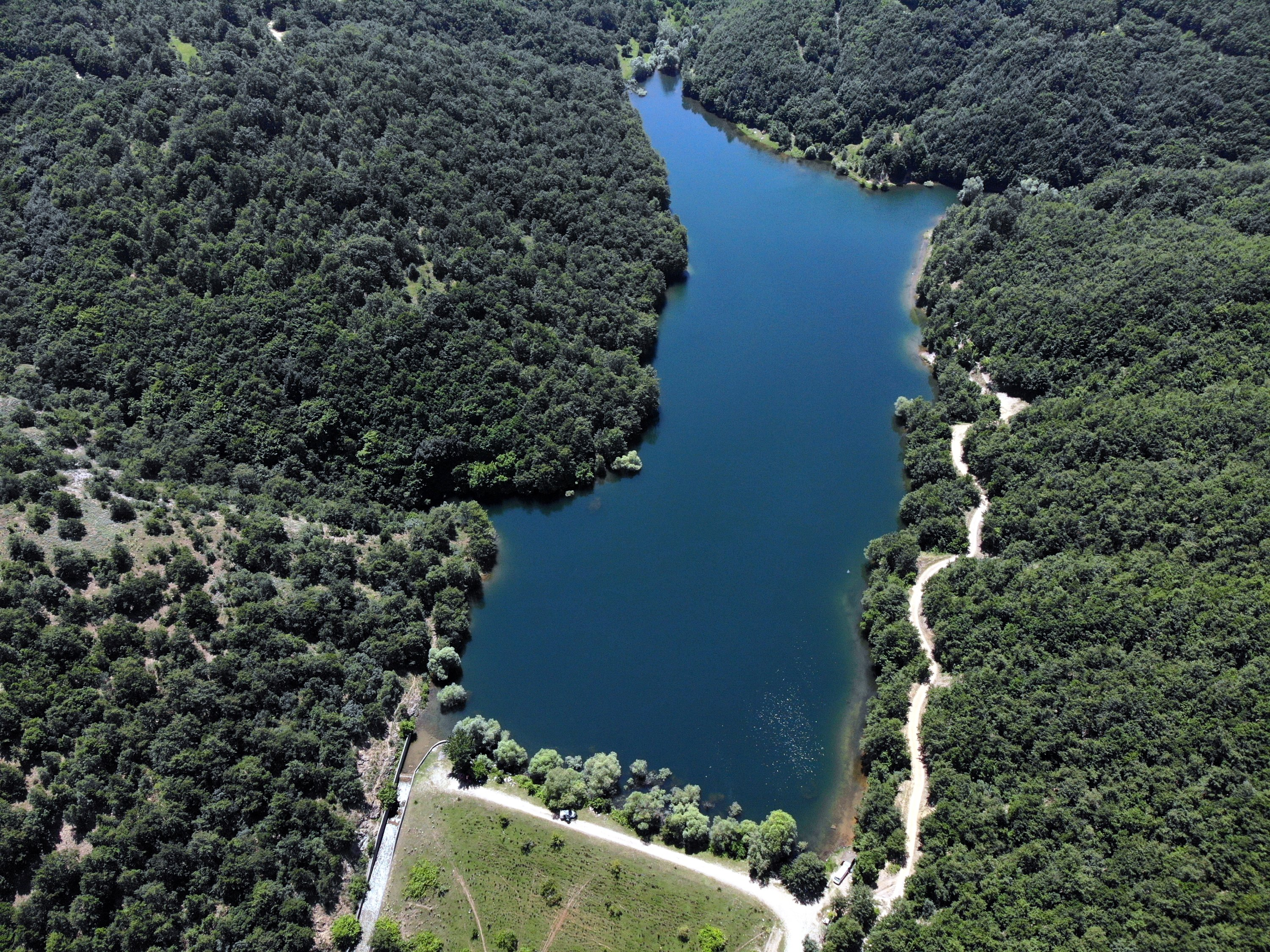 The eight ponds of Bilecik's Pazaryeri in Turkey's Marmara region continue to attract nature lovers and camping enthusiasts, July 8, 2020. (AA Photo)