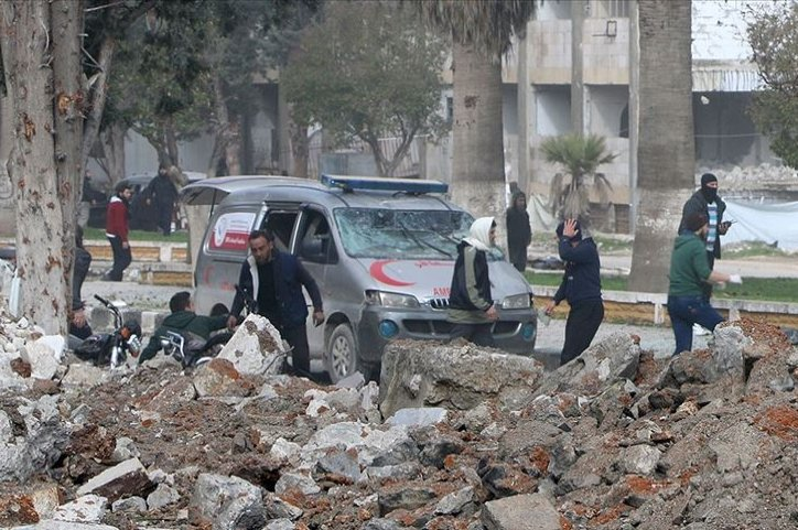 At least two civilians were killed in terrorist attacks in northwestern Syria, July 26, 2020. (AA Photo)
