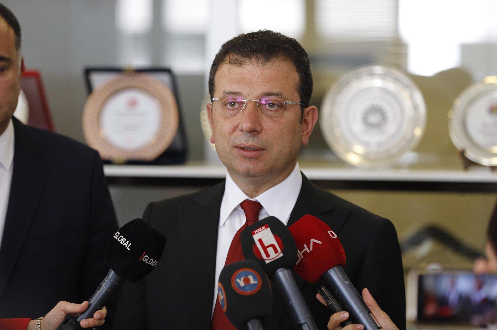 IBB Mayor Ekrem Imamoğlu responds to reporters' questions in Ankara, Turkey, July 24, 2020. (DHA Photo)