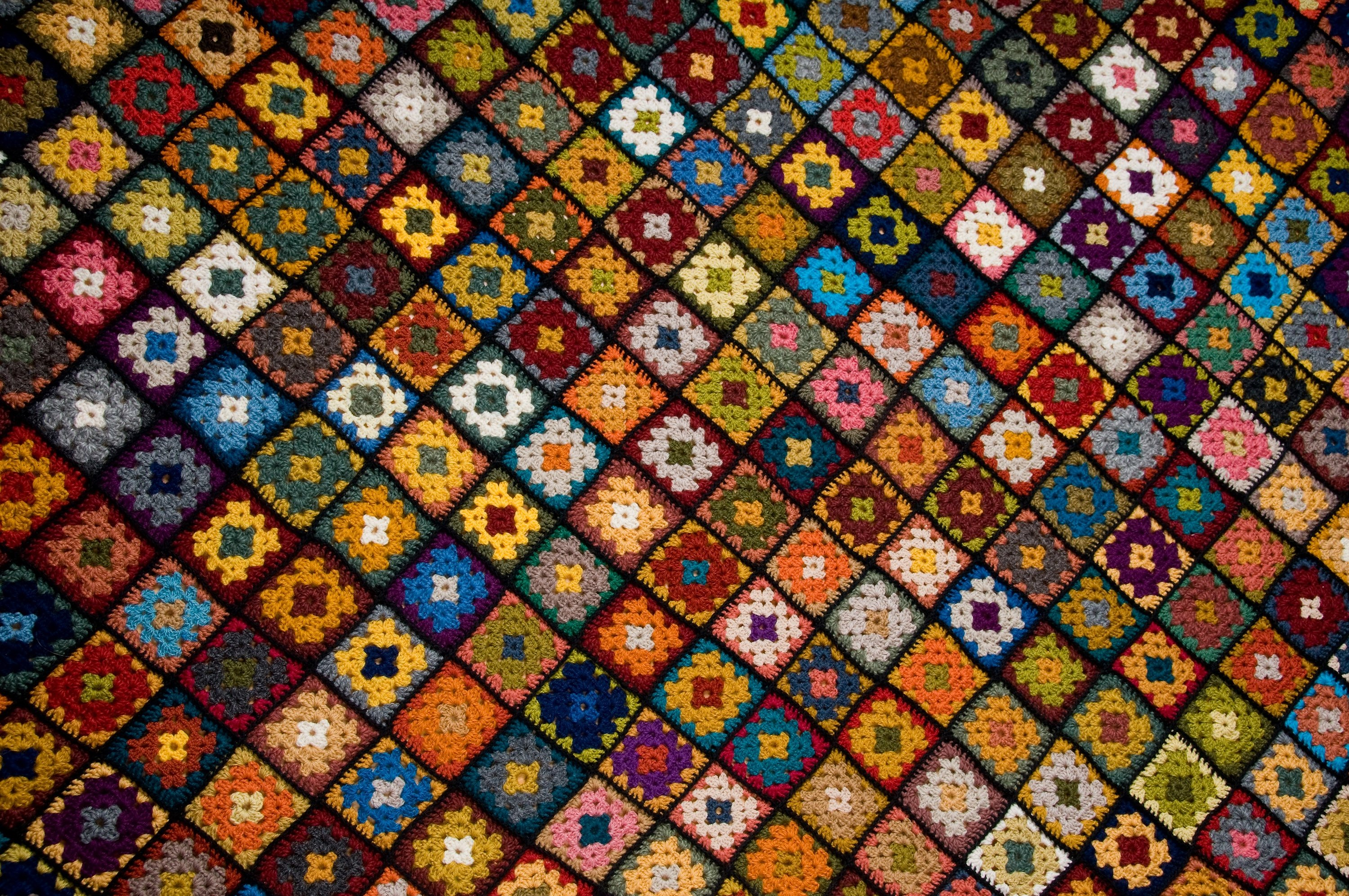 By stitching together dozens of Granny Squares, you'll be able to crochet yourself an Afgan blanket. (Shutterstock Photo)
