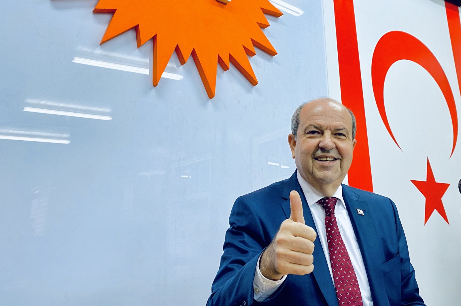 The majority of participants in the survey said they will vote for Ersin Tatar. (DHA File Photo)