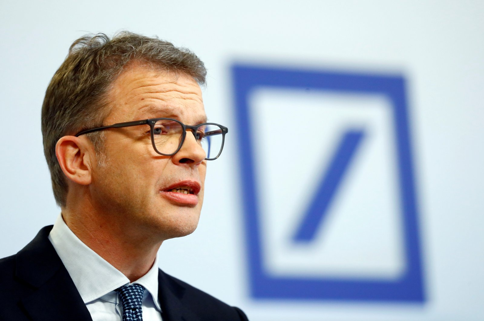 Christian Sewing, CEO of Deutsche Bank AG, speaks during the bank's annual news conference in Frankfurt, Germany, Jan. 30, 2020. (Reuters Photo)