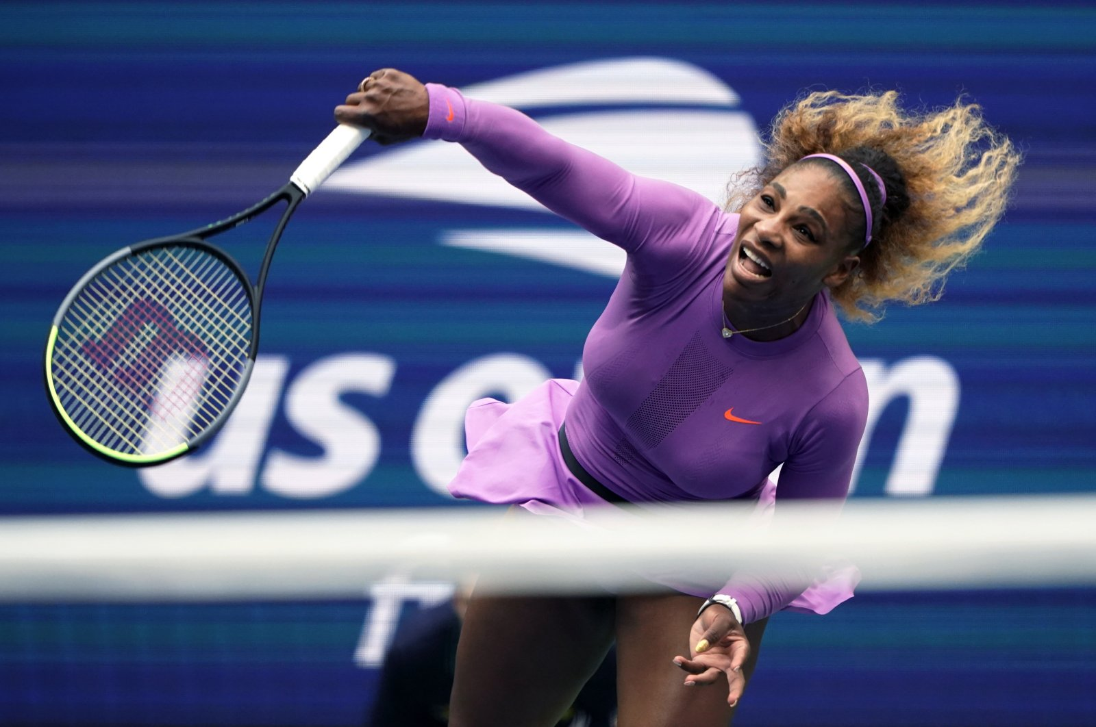 Serena Williams during the U.S. Open final in New York City, New York, U.S., Sept. 7, 2019. (AP Photo)
