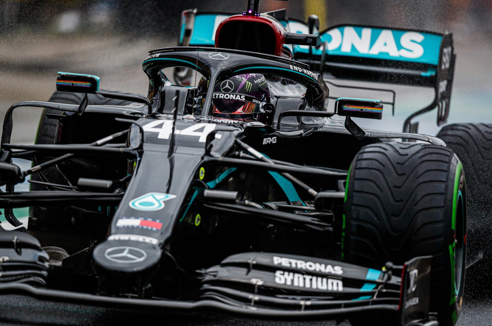 Mercedes' Lewis Hamilton in action during the Hungarian Grand Prix in Mogyorod, Hungary, July 19, 2020. (EPA Photo)