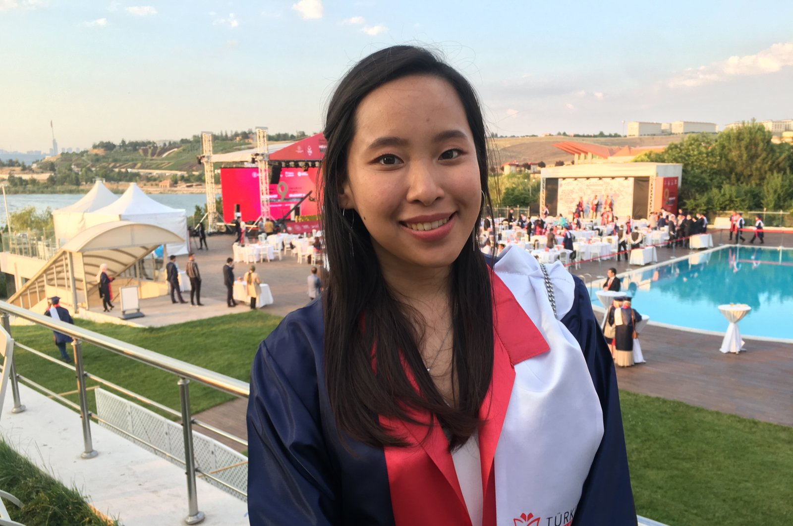 Indonesian student Arleen Emerson poses at the graduation ceremony, in the capital Ankara, Turkey, July 28, 2020. (AA Photo)