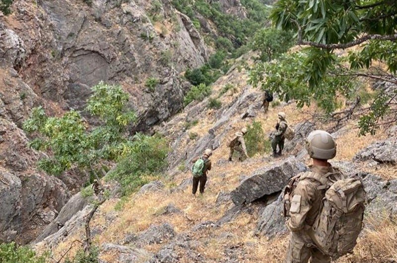 The Interior Ministry launched Operation Lightning-4 against terrorist groups in eastern Tunceli province, Turkey, July 29, 2020. (IHA Photo)
