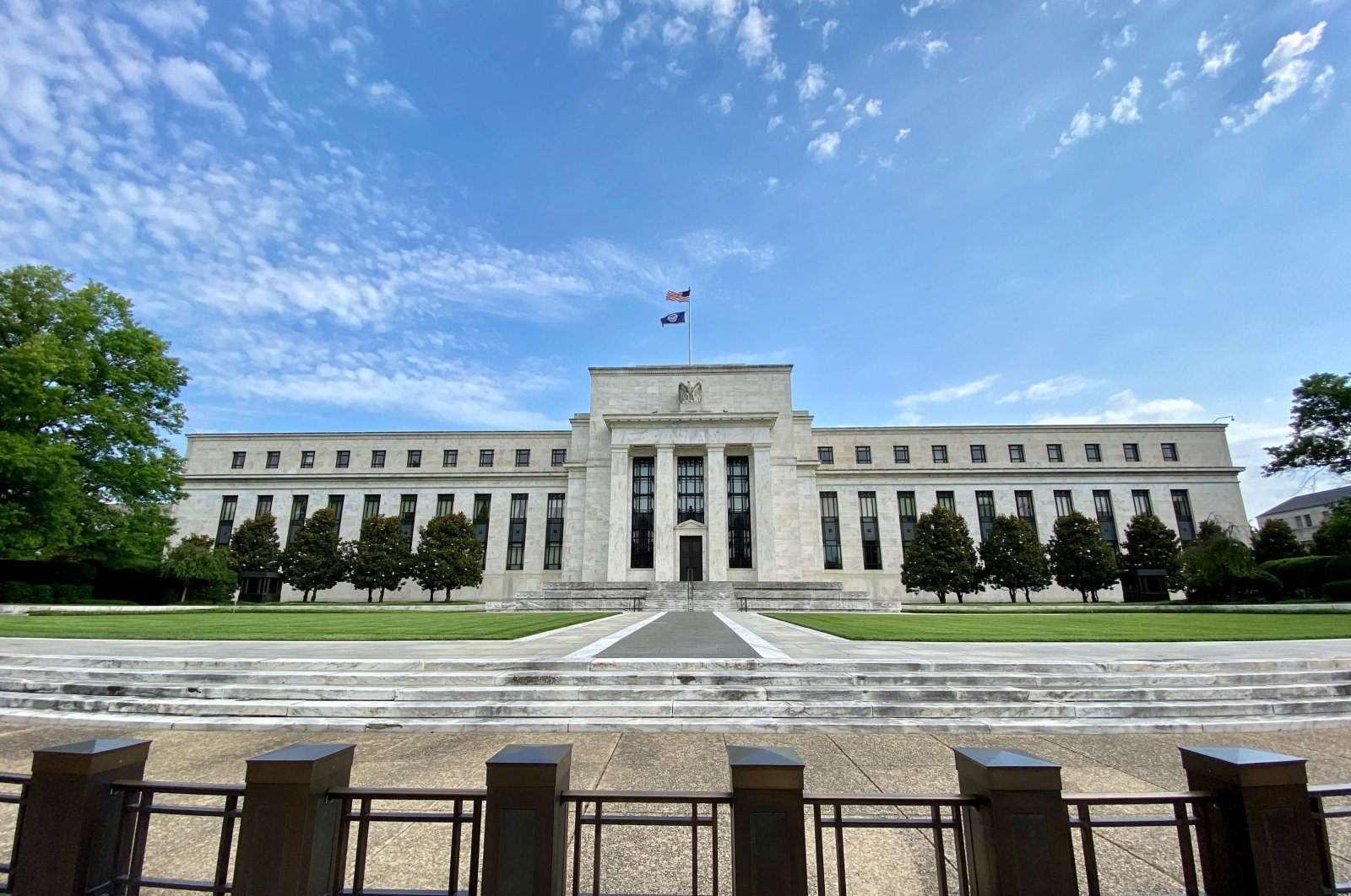 This July 1, 2020, file photo shows the Federal Reserve Board building in Washington, DC. (AFP Photo)