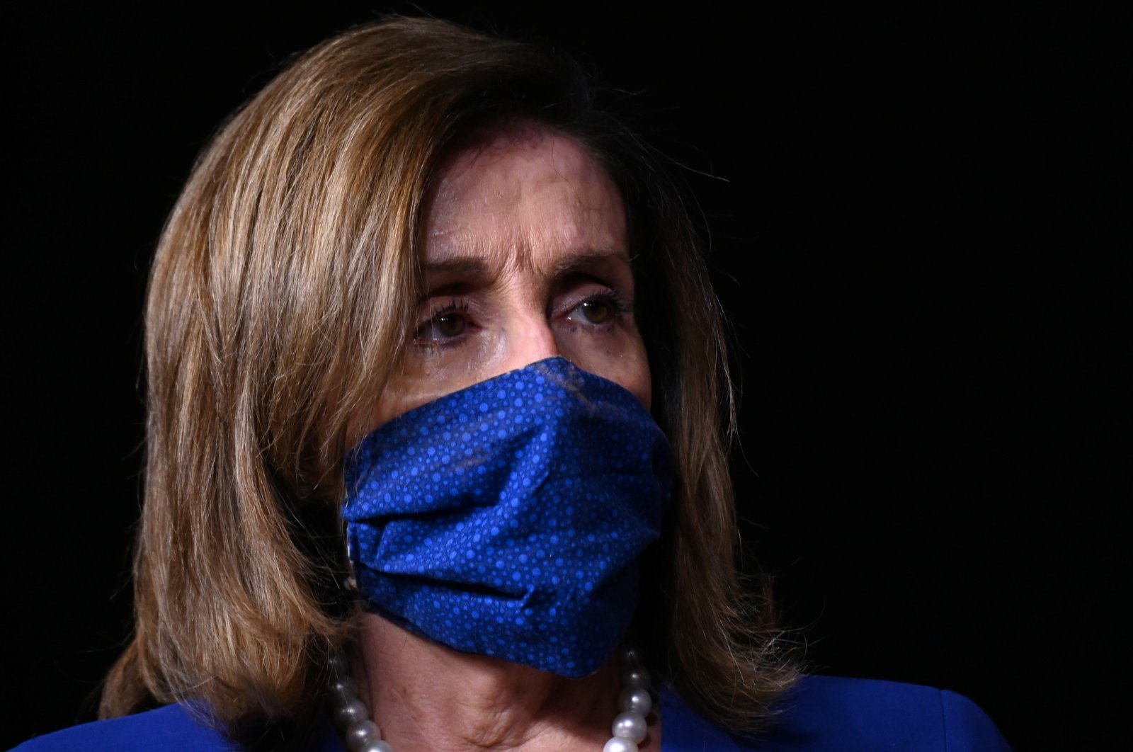 U.S. House Speaker Nancy Pelosi listens during a news conference ahead of House votes on the Child Care Is Essential Act and the Child Care for Economic Recovery Act in the U.S. Capitol, Washington, U.S. July 29, 2020. (Reuters Photo)