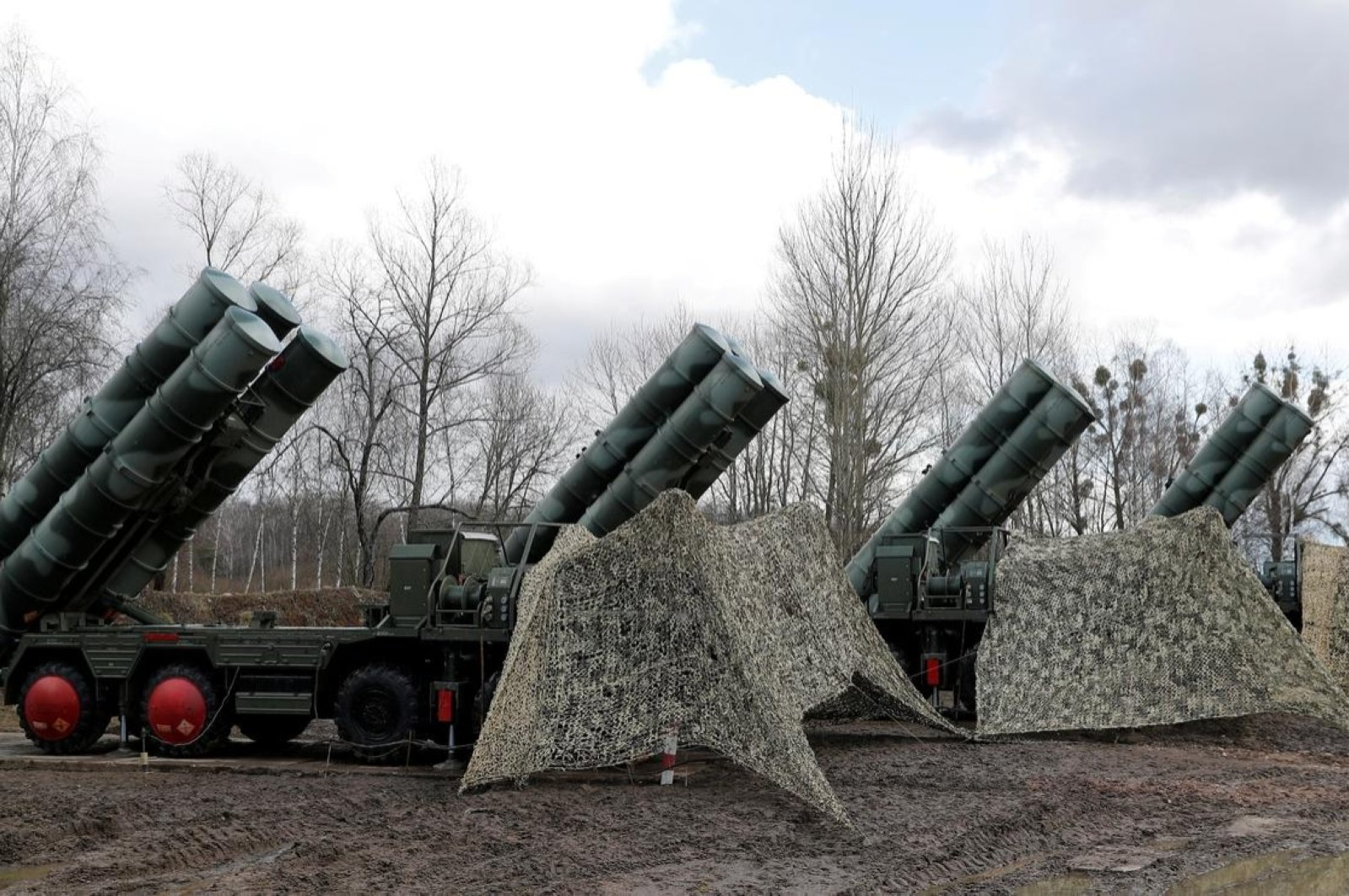 """A new S-400 """"Triumph"""" surface-to-air missile system after its deployment at a military base outside the town of Gvardeysk near Kaliningrad, Russia, March 11, 2019. (Reuters Photo)"""