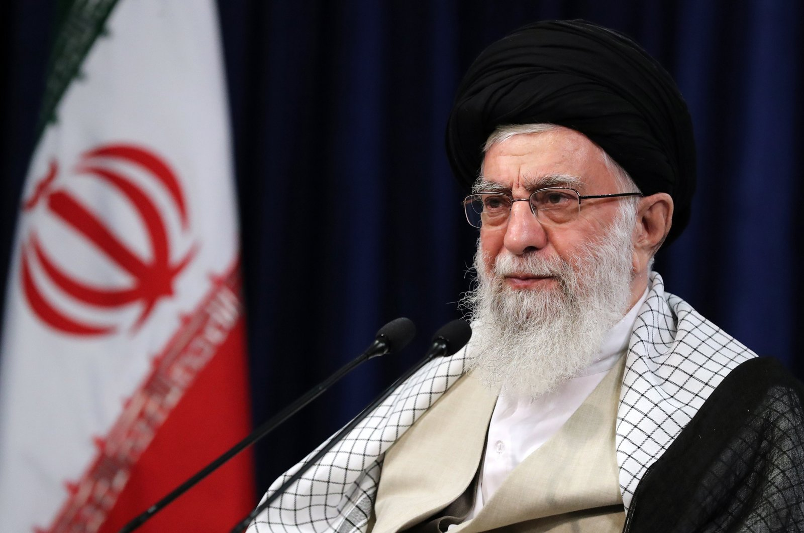 Iranian Supreme Leader Ayatollah Ali Khamenei addresses the nation in a live TV speech on the occasion of Eid al-Adha, Tehran, Iran, July 31, 2020. (AFP Photo)