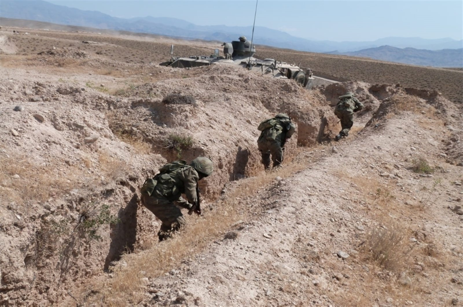 Joint military exercises with the participation of Turkey and Azerbaijan's air and ground forces are continuing, Aug. 1, 2020. (AA Photo)
