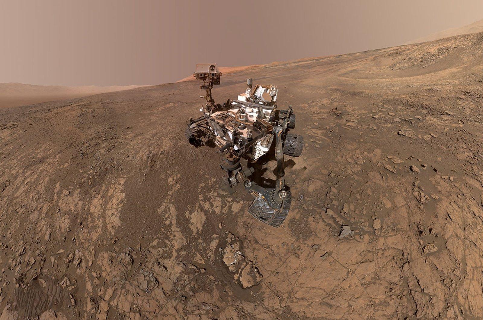 NASA's Curiosity Mars Rover snaps a self-portrait at a site called Vera Rubin Ridge on the Martian surface in February 2018. (Photo courtesy of NASA via Reuters)