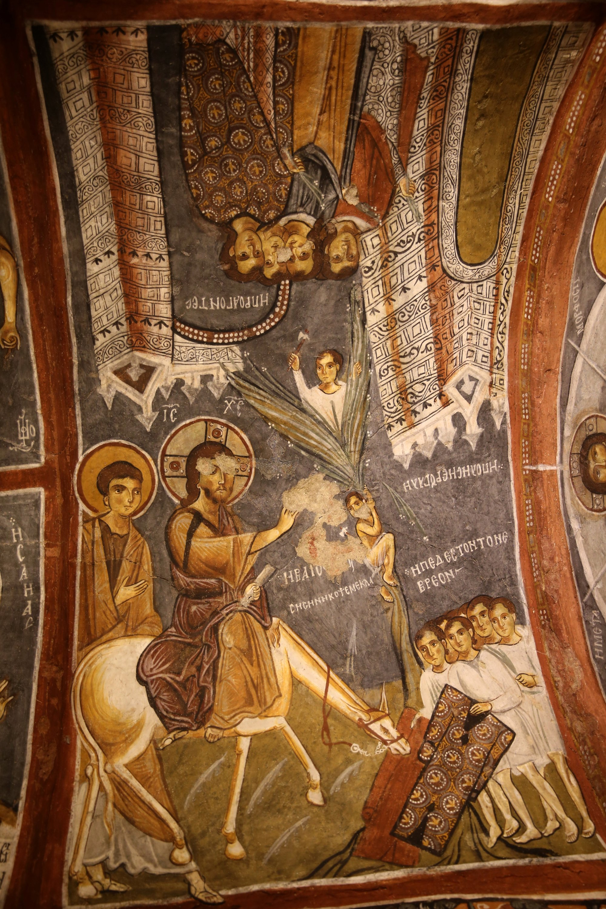 Frescoes at the Dark Church, Cappadocia, central Turkey, Aug. 3, 2020. (AA PHOTO)