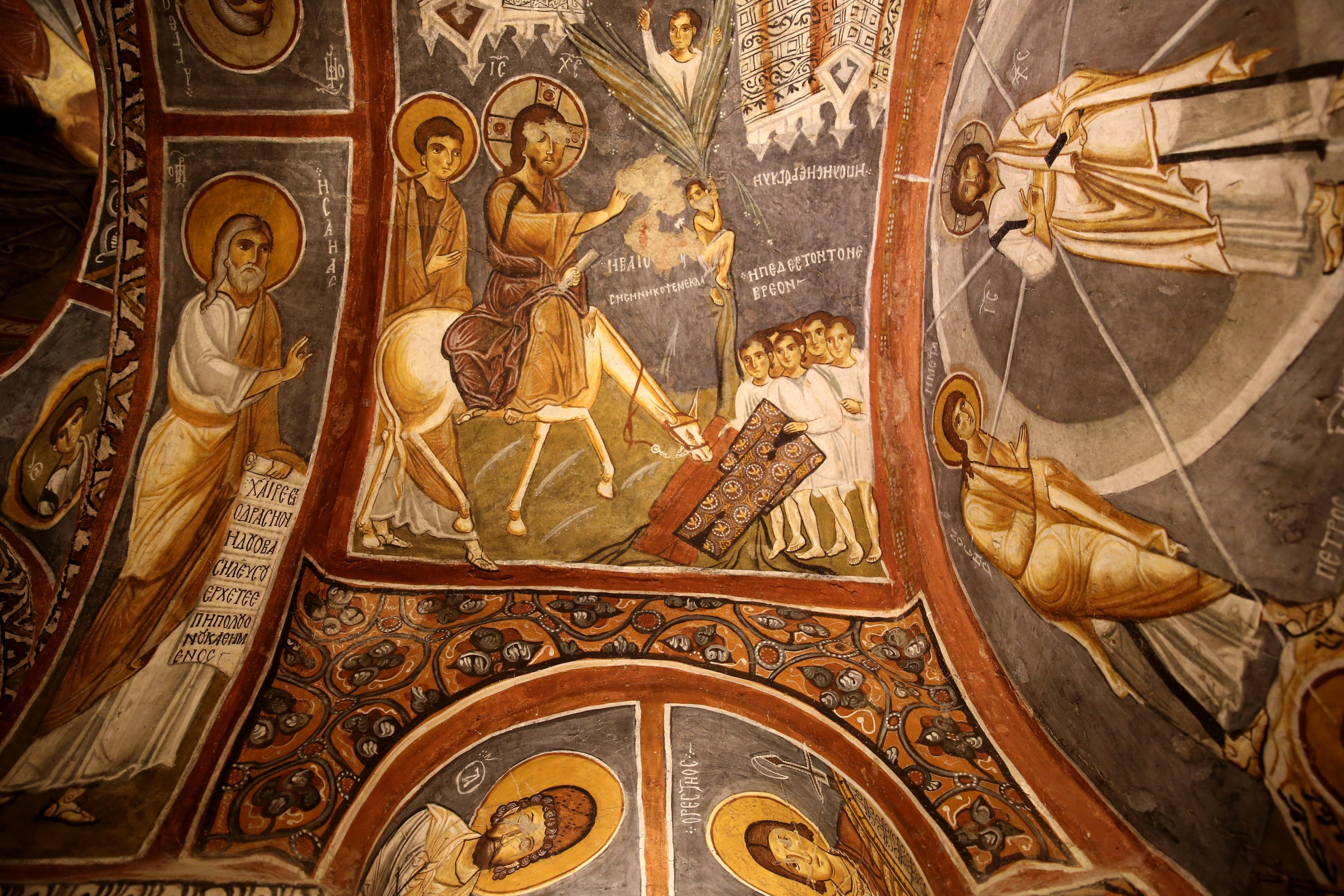 Frescoes at the church, Cappadocia, central Turkey, Aug. 3, 2020. (AA PHOTO)