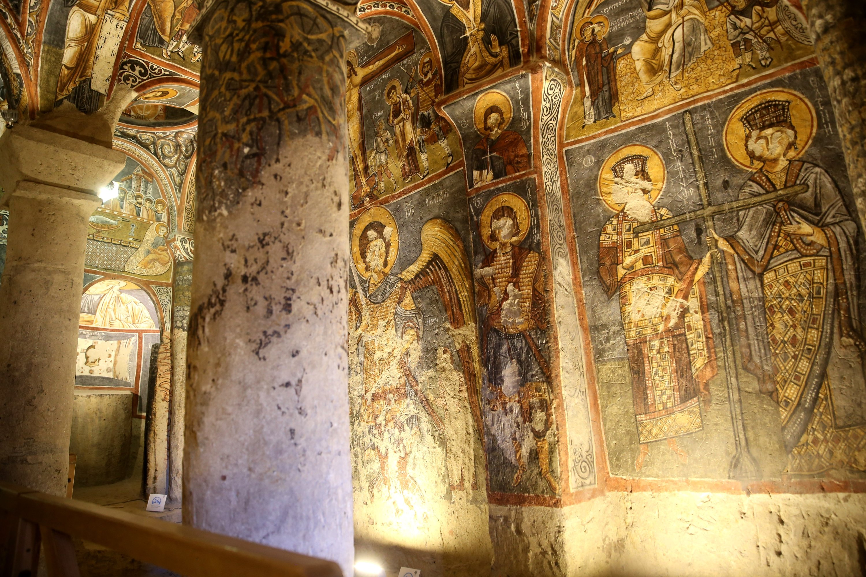 A photo of the interior of the church, Cappadocia, central Turkey, Aug. 3, 2020. (AA PHOTO)
