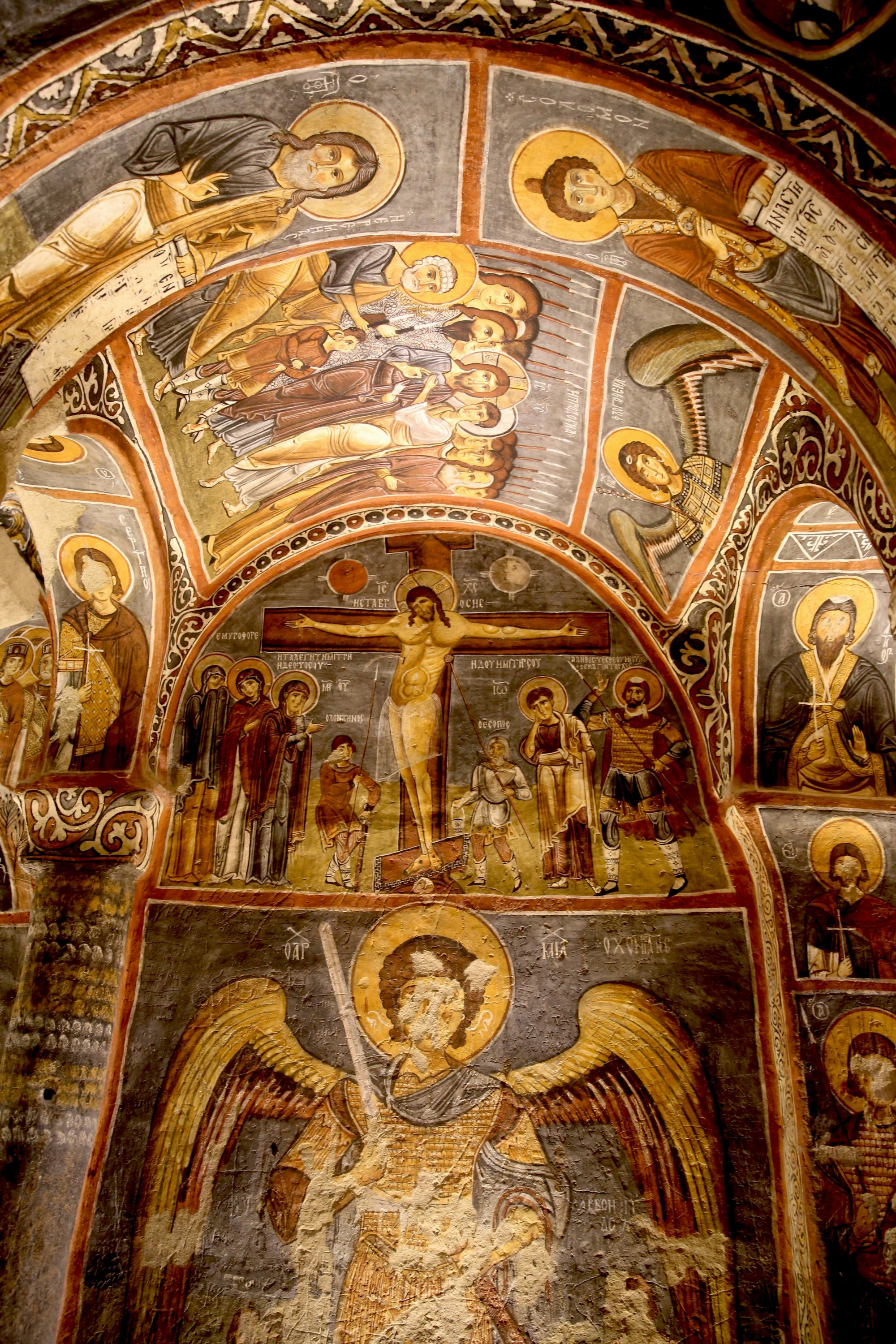 Some frescoes at the church, Cappadocia, central Turkey, Aug. 3, 2020. (AA PHOTO)