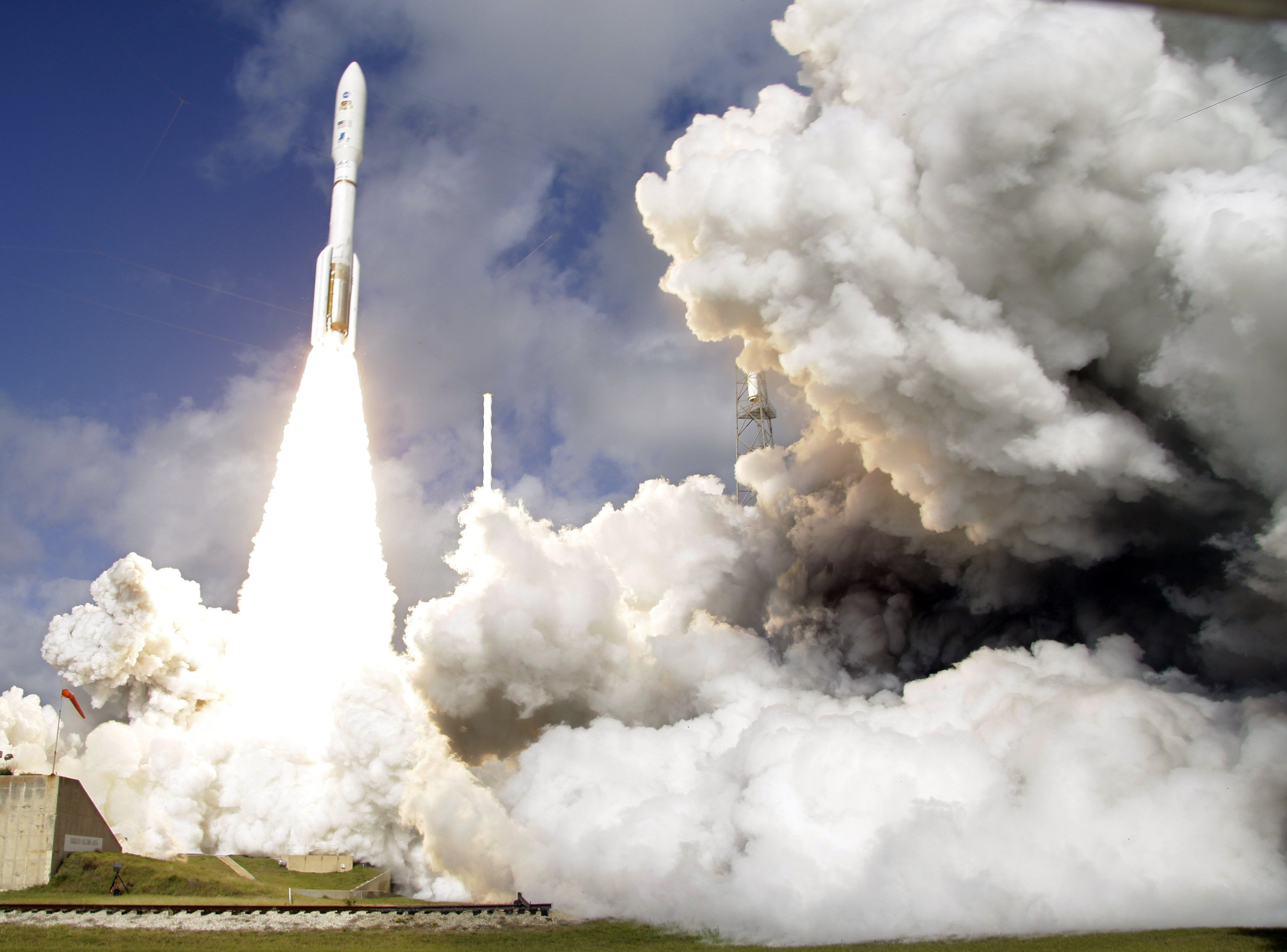 In this Saturday, Nov. 26, 2011 file photo, a United Launch Alliance Atlas V rocket carrying NASA's Mars Science Laboratory (MSL) Curiosity rover lifts off from Launch Complex 41at Cape Canaveral Air Force Station in Cape Canaveral, Fla. (AP Photo)