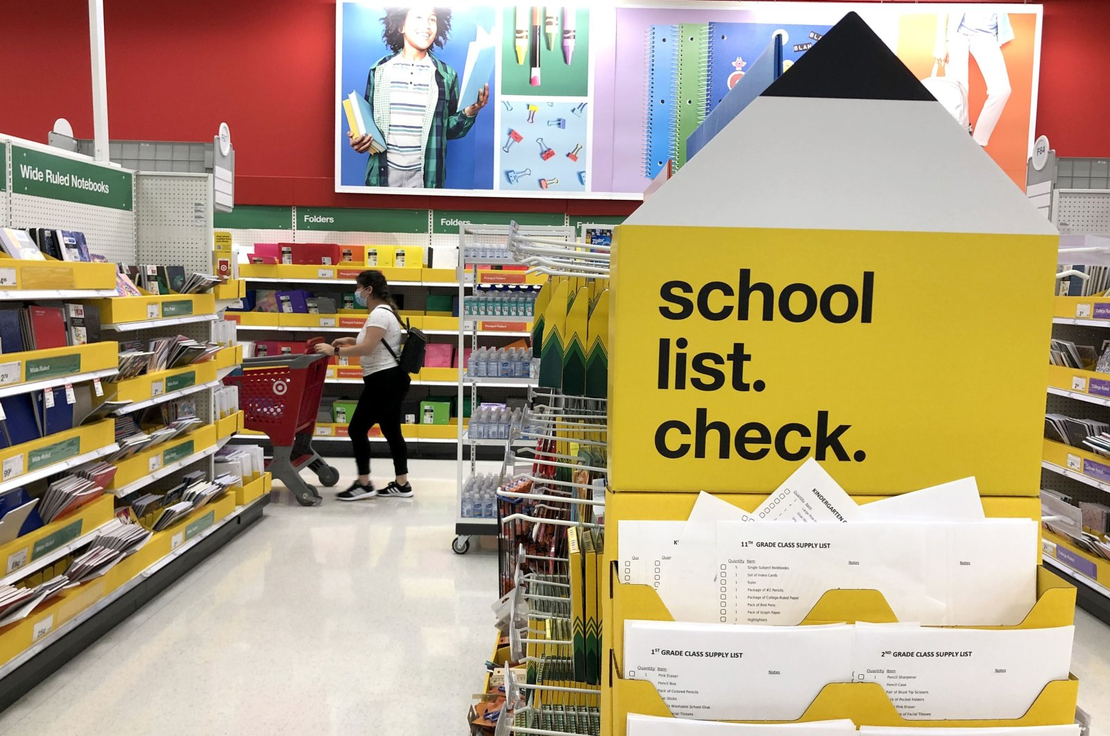 Back-to-school supplies are displayed at a Target store on Aug. 03, 2020, in San Rafael, California. (Getty Images/AFP Photo)