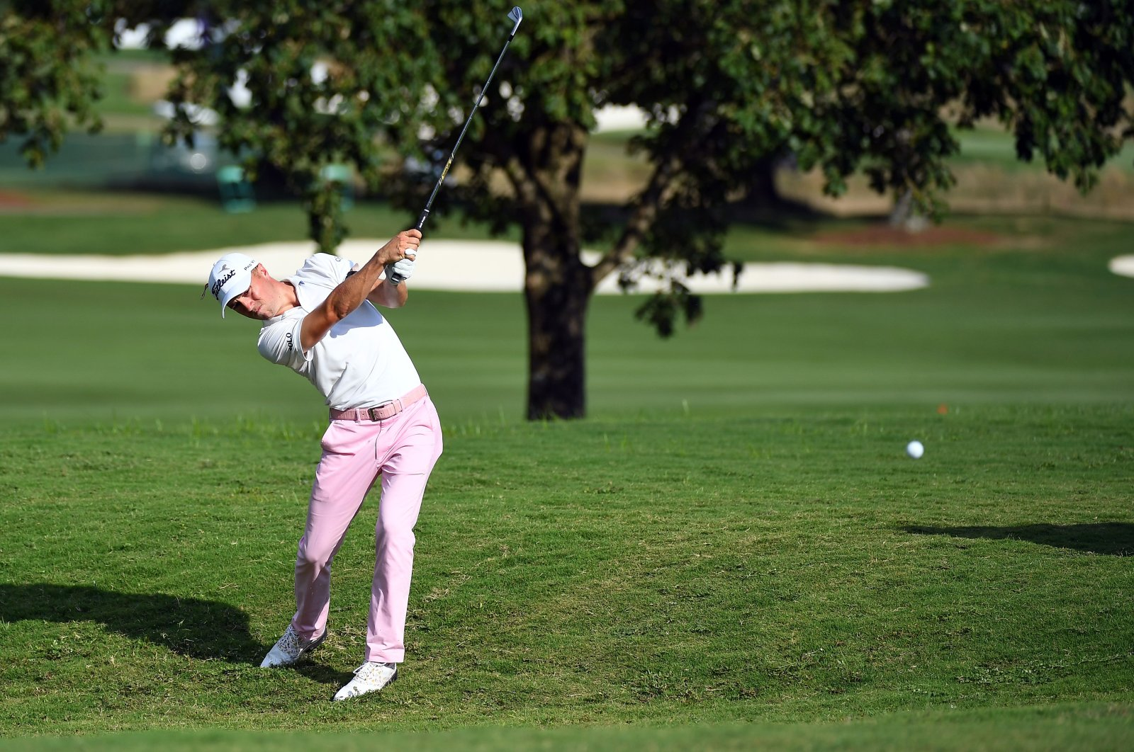 Justin Thomas, a favorite in the upcoming tournament, plays his shot at the FedEx St. Jude Invitational in Memphis, Tennesee, U.S., Aug. 2, 2020. (Reuters Photo)
