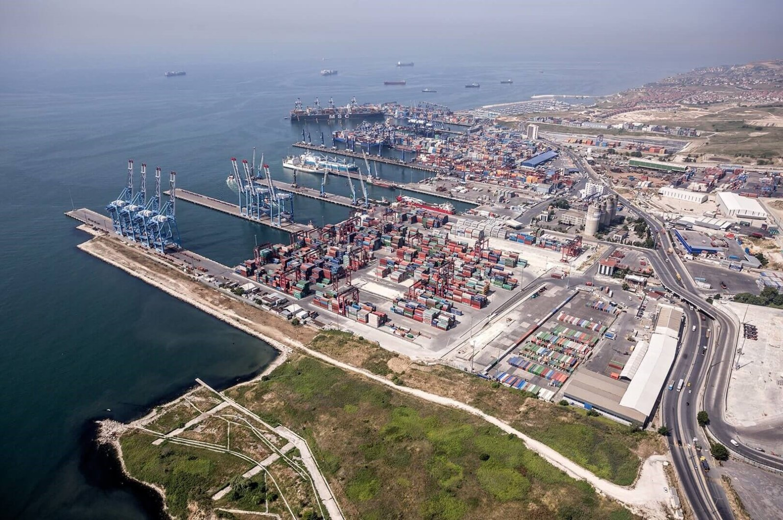An undated aerial view of Kumport, one of Turkey's largest ports, in Istanbul, Turkey. (Photo courtesy of Kumport)