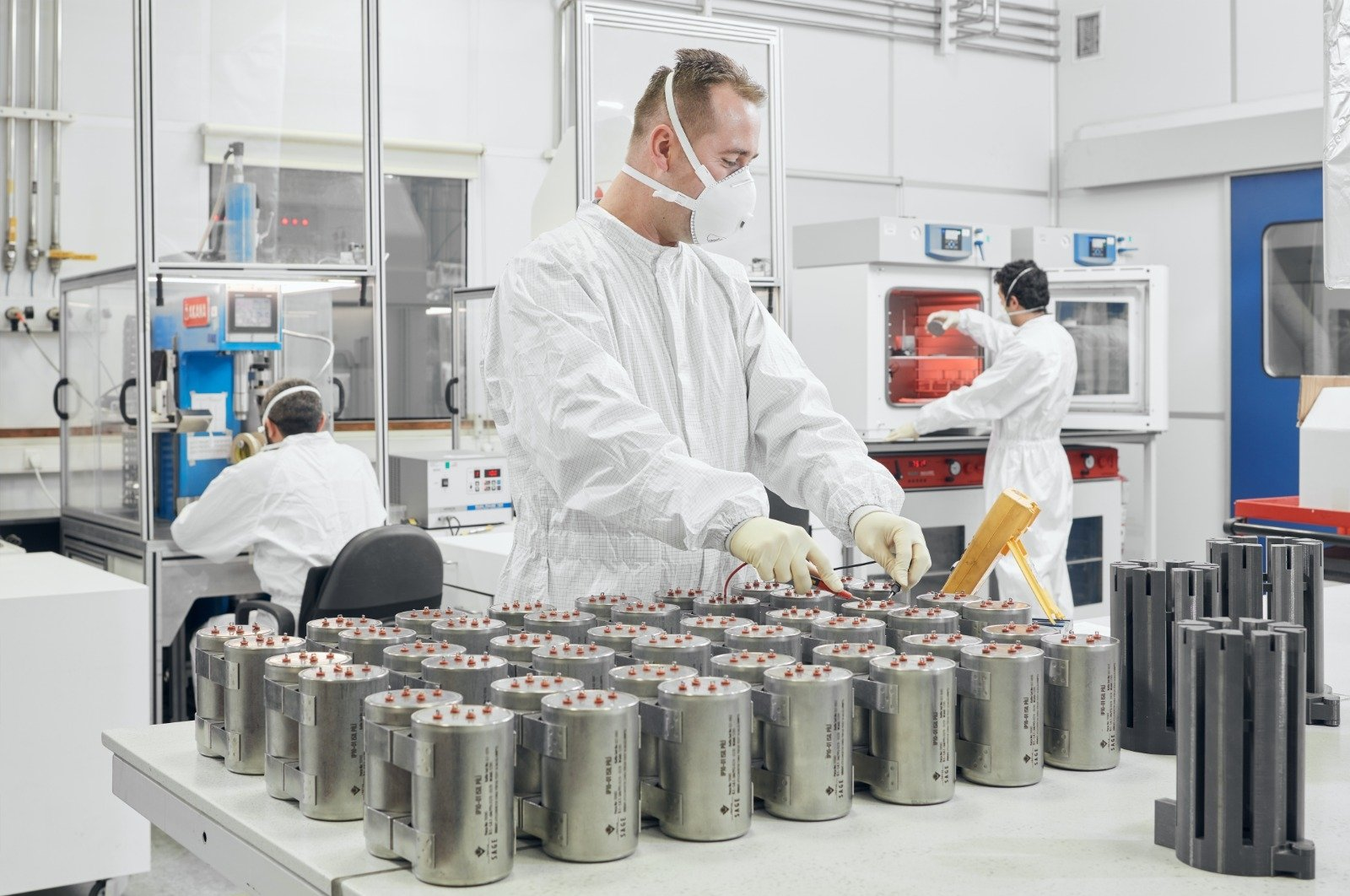 An engineer working at the SAGE Thermal Battery Manufacturing Facility in Ankara, Turkey, Aug. 4, 2020. (DHA Photo)