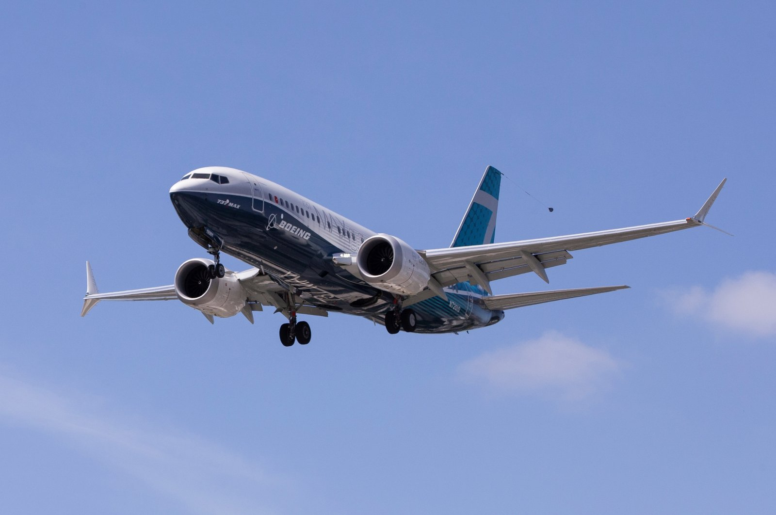 A Boeing 737 MAX airplane lands after a test flight at Boeing Field in Seattle, Washington, U.S. June 29, 2020. (Reuters Photo)