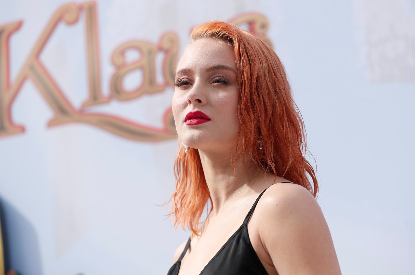 """Original song performer Zara Larsson poses at the premiere for the movie """"Klaus"""" in Los Angeles, California, U.S., Nov. 2, 2019. (Reuters Photo)"""