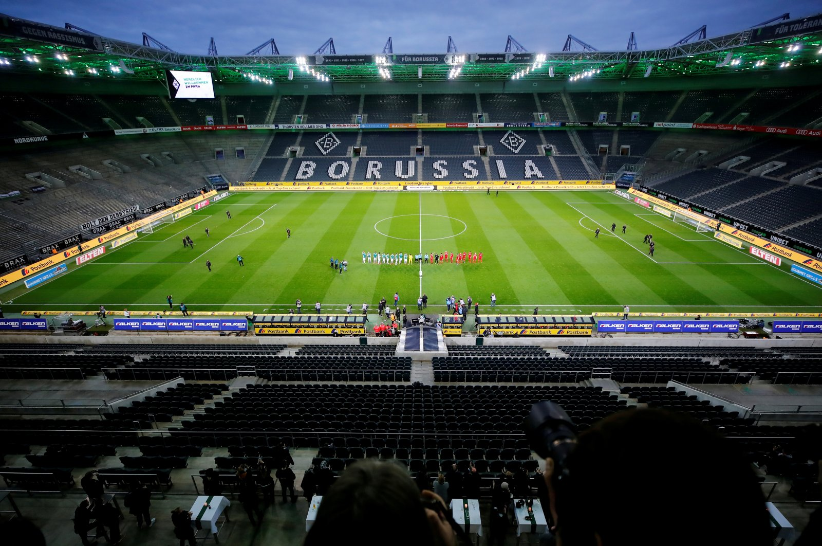 A general view of the stadium ahead of a Bundesliga football match between Borussia Monchengladbach and FC Cologne at the Borussia-Park in Monchengladbach, Germany, March 11, 2020. (Reuters Photo)