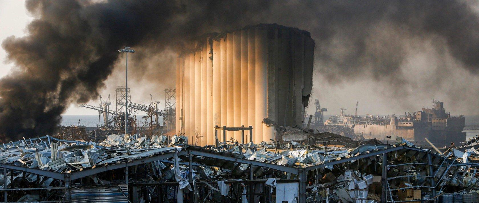 Ein zerstörtes Silo am Ort der Explosion, die am 4. August 2020 die libanesische Hauptstadt Beirut erschütterte. (AFP Photo)