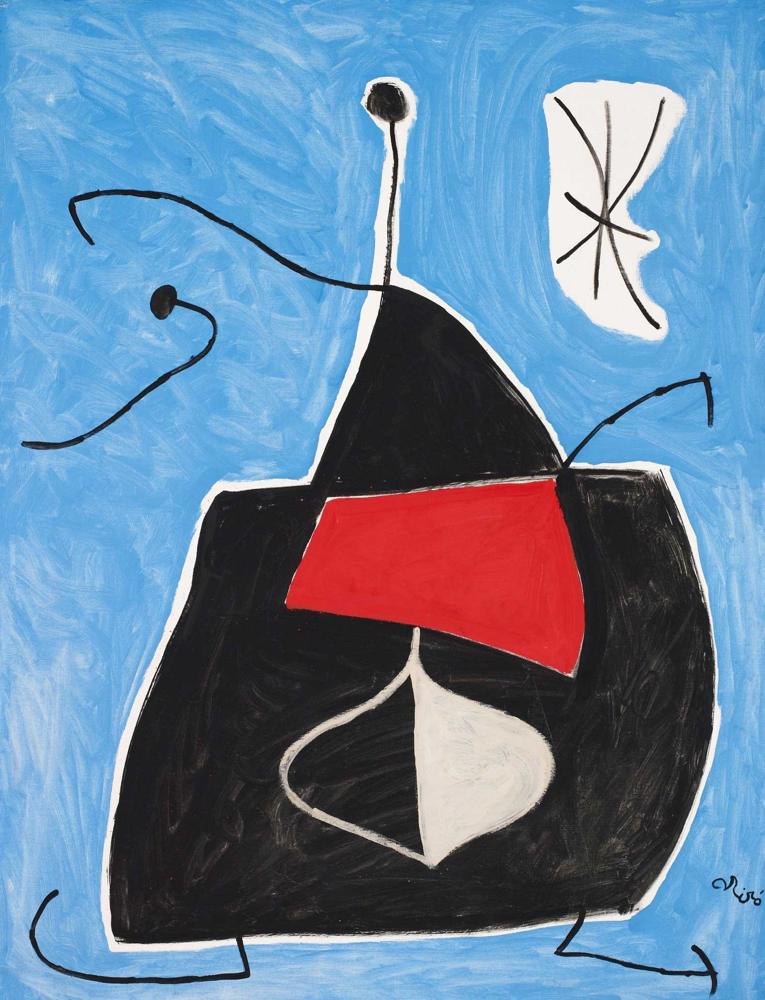 Joan Miro, 'Woman, Bird, Star,' 1978, oil and acrylic on canvas, 116 by 89 centimeters. (Courtesy of SSM)