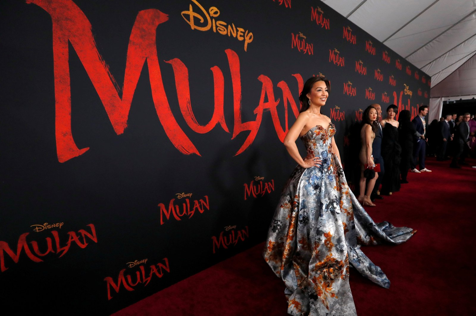 """Actor Ming-Na Wen poses at the premiere for the film """"Mulan"""" in Los Angeles, California, U.S., March 9, 2020. (Reuters Photo)"""